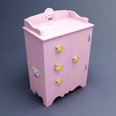 3D model of a kid's night stand