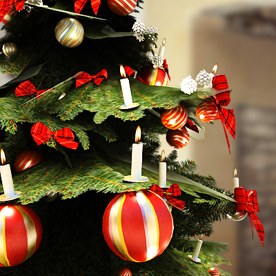 3D model of Christmas decoration collection