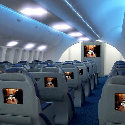 Dreamliner business class interior 3D model