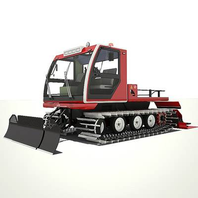 Modern ratrac, a snow ramming machine 3D model