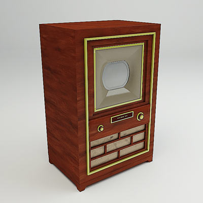 3D model of the First color TV