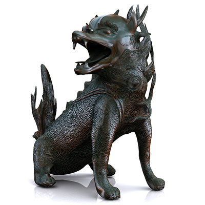 3D model of Chinese dragon