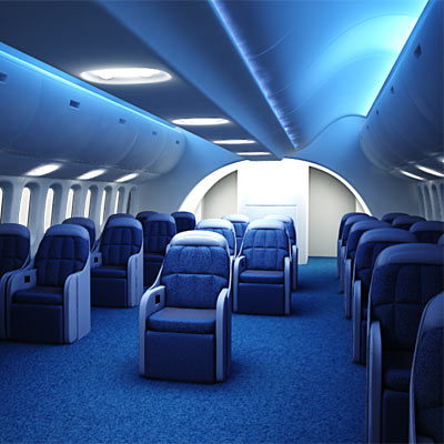Dreamliner first class interior 3D model