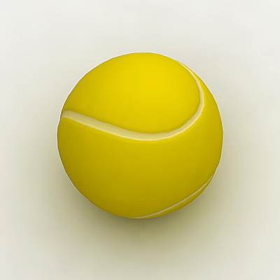 model: Realistic 3D tennis ball