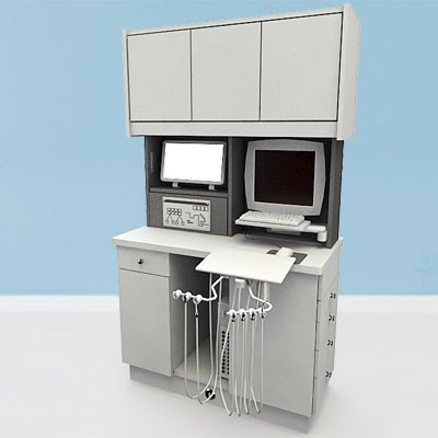 3D model of a dental delivery console