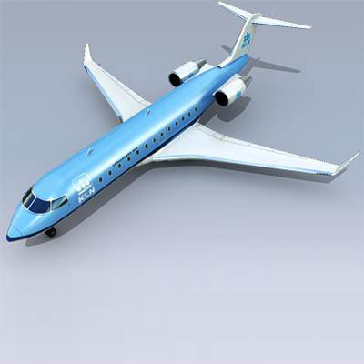 Realistic and detailed Bombardier Challenger 850 3D model