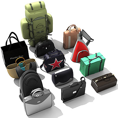 3D model of Bags collection