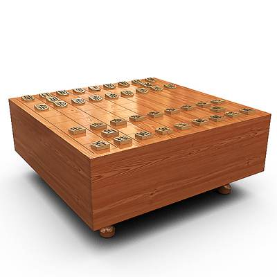 Very realistic 3D model of Shogi (Japanese chess)