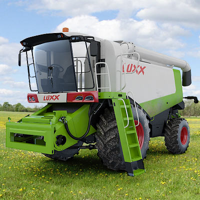 3D model of the Combine harvester CLAAS LEXION 570