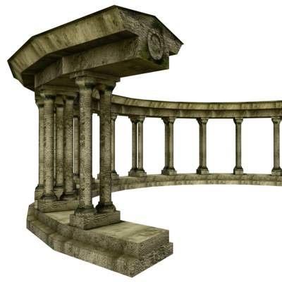 The 3D model of the Arch of  Amphitheater