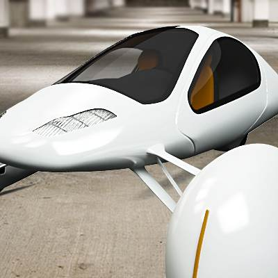 model: 3D Futuristic vehicle looks like Aptera