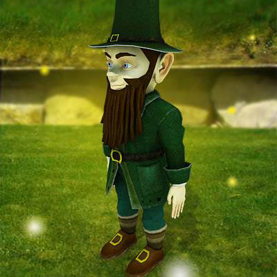 model: 3D Irish leprechaun