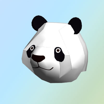 3D model: Low-poly panda head
