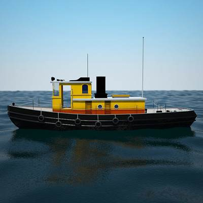 Yellow Sea Tug 3D model