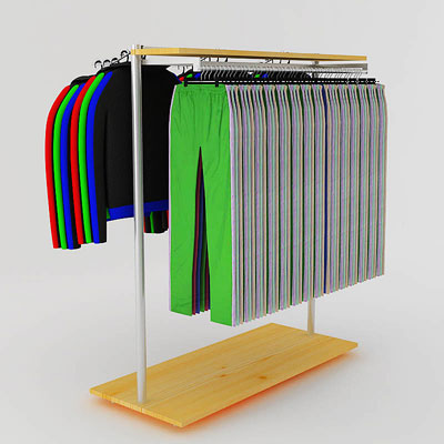 3D model of Sweatsuits on rack