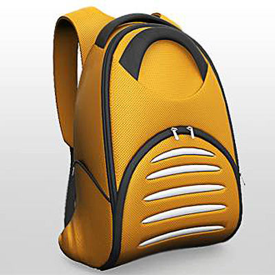 3D model: High detailed and realistic yellow backpack