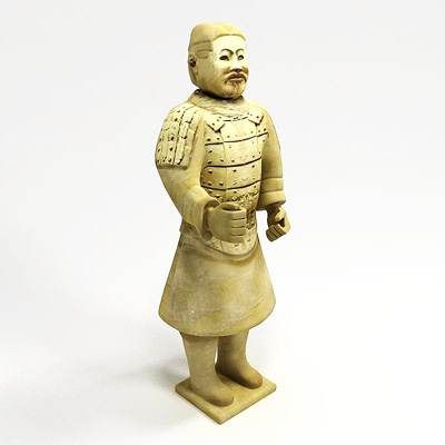 model: 3D statue of sitting terracotta solider