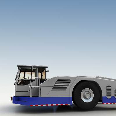 Airport tow tractor used for the planes towage 3D model