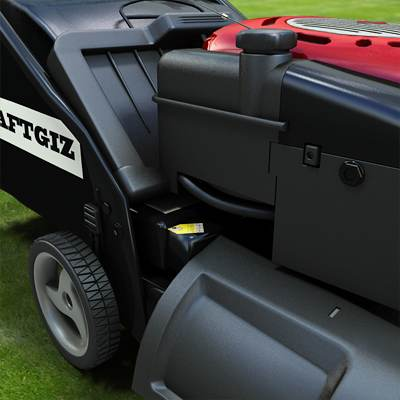The 3D model of a typical modern gasoline-powered walk-behind mower