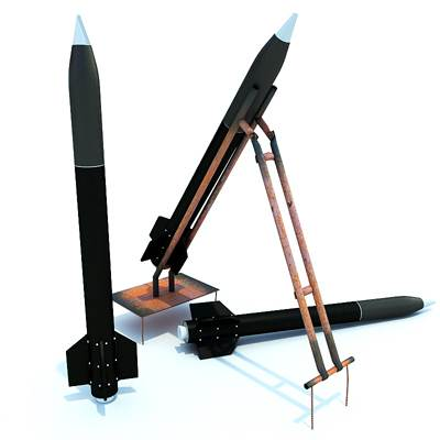 model: Qassam 3D black missiles set