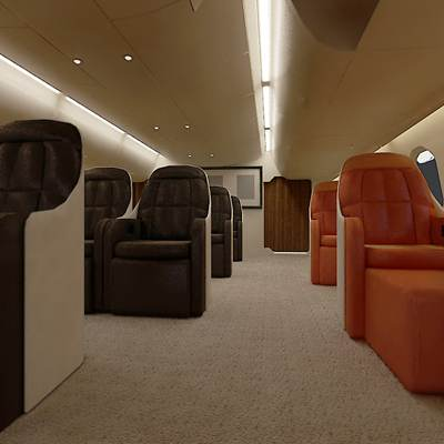 3D model of Airbus A 380 first class interior