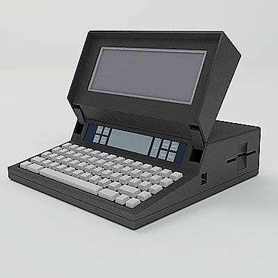 3D model of the first laptop