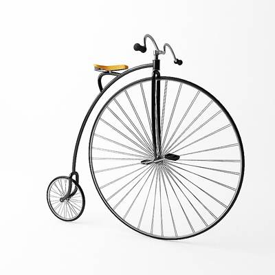 Penny-farthing bicycle 3D model