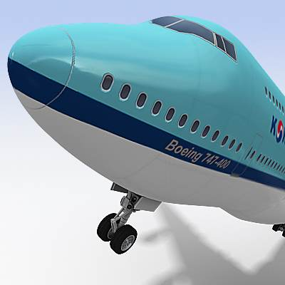 3D model of B-747 often called Jumbo, textured as a Korean air plane