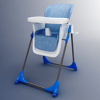 3D model of a baby seat