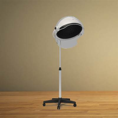 3D model: Professional floor standing hairdryer