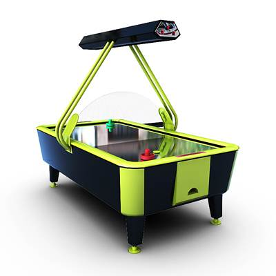 Very realistic 3D model of Air hockey