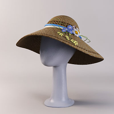3D model of Easter bonnet