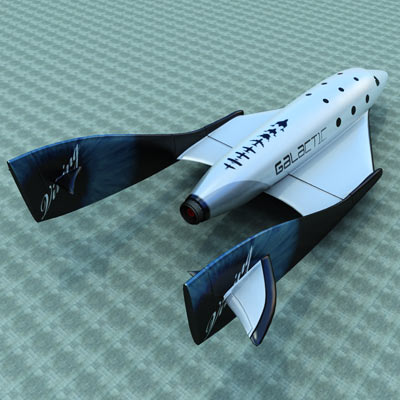 3D model of the Spaceshiptwo