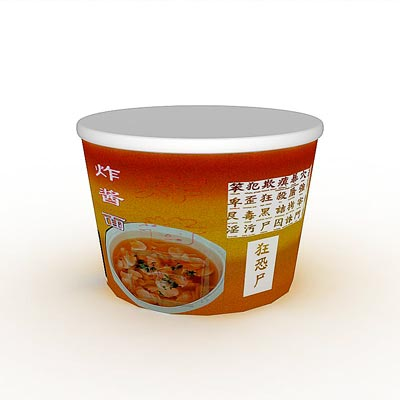 3D model of Noodles pack