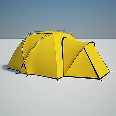 The 3D model of a Camping tent
