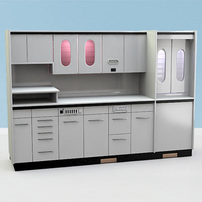 3D model of a Dental cabinet set