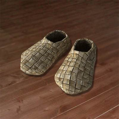 The 3D model of a Russian bast shoes