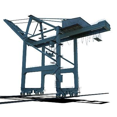 Seaport gantry crane 3D model