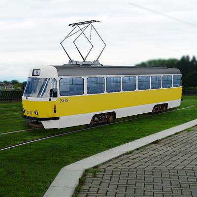 3D model: Contemporary Moscow tram