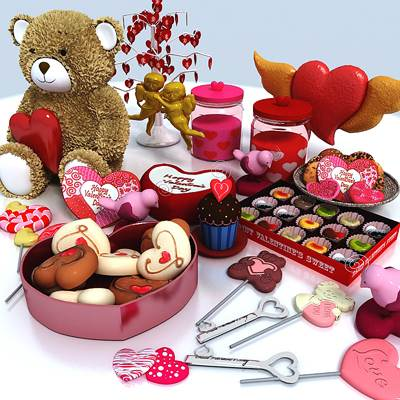 model: Valentine 3D gifts