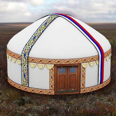 The 3D model of a White nomad's tent