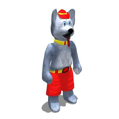 model: Harvey the hound, the first hockey 3D mascot