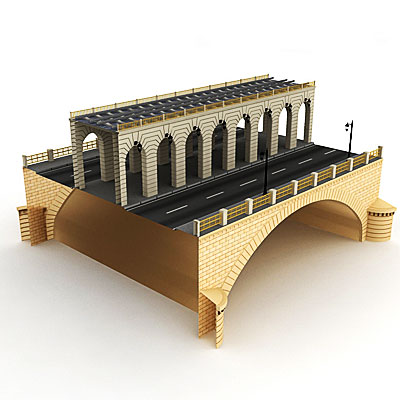 3D model of a Metro bridge<br />