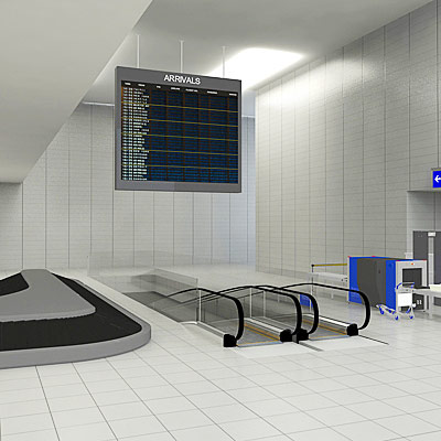 3D model of the airport inside collection