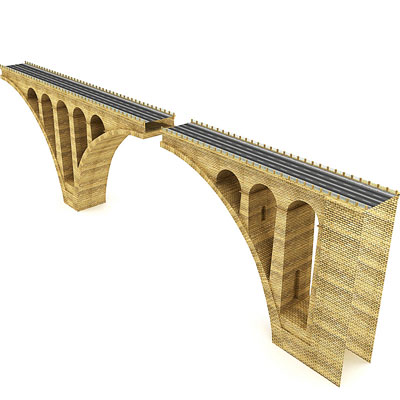3D model of an Arch highway bridge