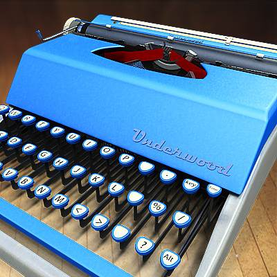 The 3D model of Mechanical desktop typewriters