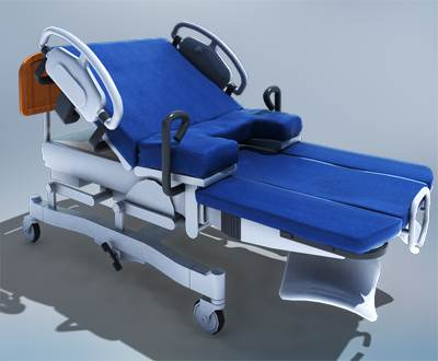 3D model: Labor bed used for labor in maternity hospital