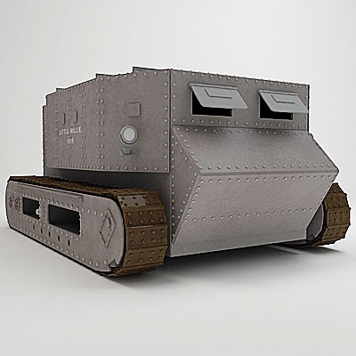 3D model of the first tank