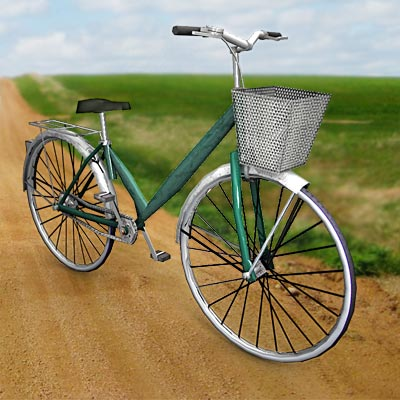 3D model of a Chinese bicycle