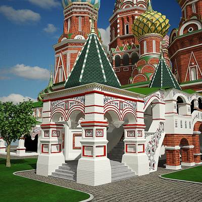 The 3D model of the Moscow Saint Basils Cathedral